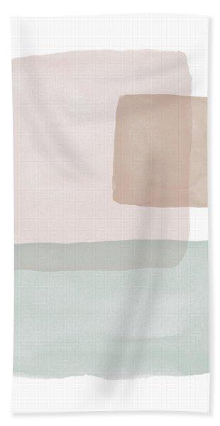 Terrazzo Watercolor Blocks 2- Art By Linda Woods Beach Towel