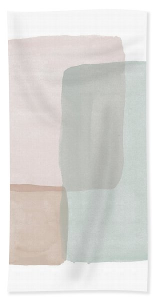 Terrazzo Watercolor Blocks 3- Art By Linda Woods Beach Towel