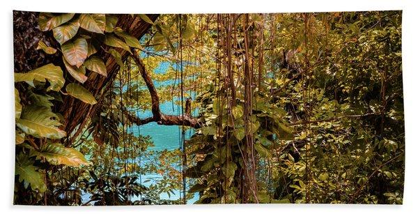 The Blue Lagoon Beach Towel