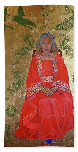 The Chinese Empress Beach Towel
