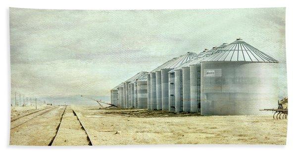 The Grain Bins At Taber Beach Towel