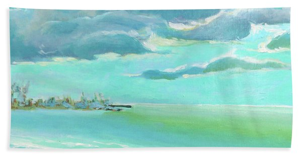 The Gulf, The Clouds, The Pier Beach Towel