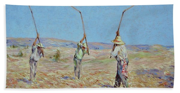 The Haymakers - Pierre Van Dijk 70x90cm Oil Beach Towel