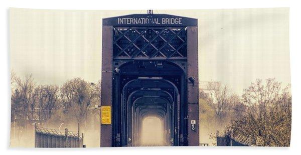 The Internation Railroad Bridge Beach Towel