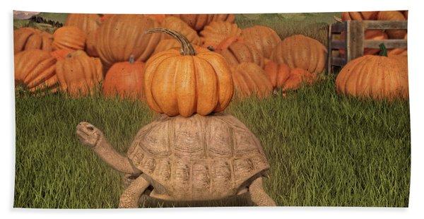 The Perfect Pumpkin Beach Towel