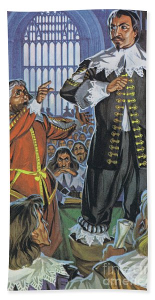 The Trial Of Thomas, Earl Of Strafford, In Westminster Hall, 1641 Beach Towel