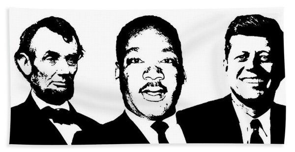 Three Leaders Beach Towel