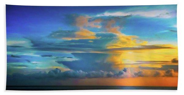 Thunder At Sun Set Beach Towel