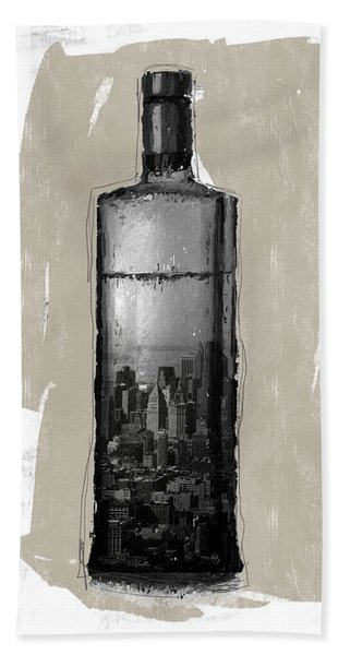 Time In A Bottle 1- Art By Linda Woods Beach Towel