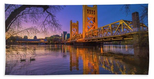 Tower Bridge At Sunrise - 4 Beach Towel