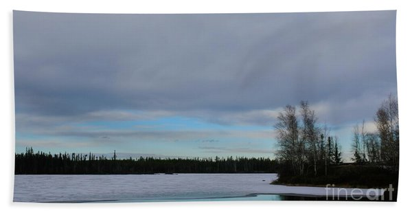 Tranquil Arctic River Beach Sheet