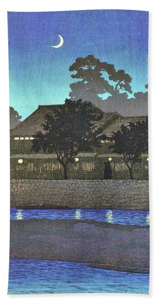 Travel Souvenir First Collection, Nagare Pleasure Quarter, Kanazawa - Digital Remastered Edition Beach Towel