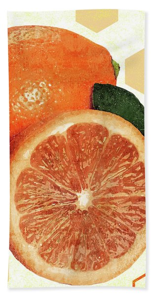 Tropical Print - Orange, Grapefruit, Tangerine - Modern Wall Art Print - Tropical Poster Beach Towel