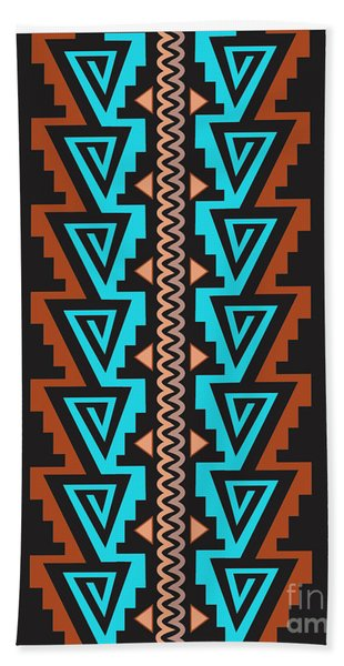 Turquoise Triangle Pattern Beach Sheet