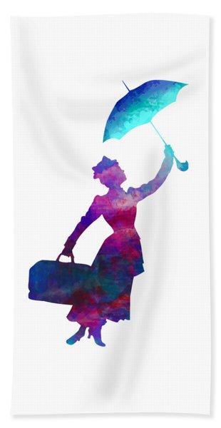 Umbrella Lady Beach Towel