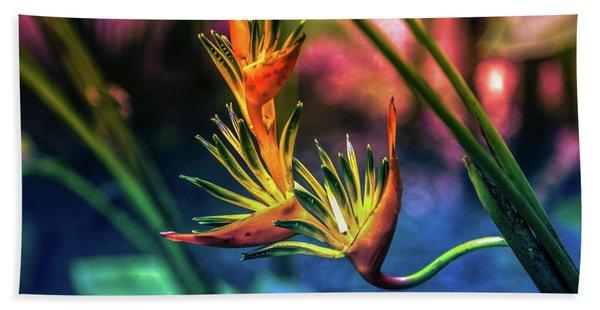 Vibrant Jungle Bird Beach Towel