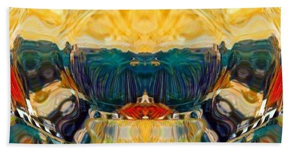 Beach Towel featuring the digital art Volcano 2.0 by A zakaria Mami