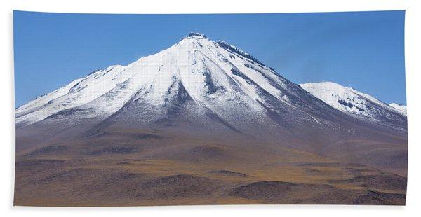 Volcano On The Altiplano Beach Towel