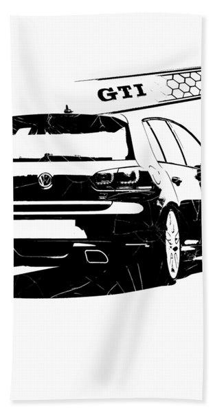 New Genuine Volkswagen GTI Beach Bath Swimming Towel Black White Red GTI