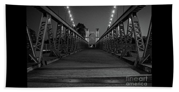 Waco Suspension Bridge  Beach Towel