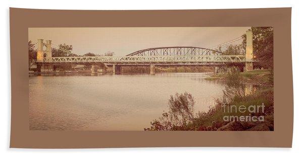 Waco Suspension Bridge Panoramic Beach Sheet