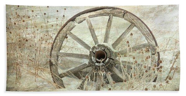 Wagon Wheel Beach Towel