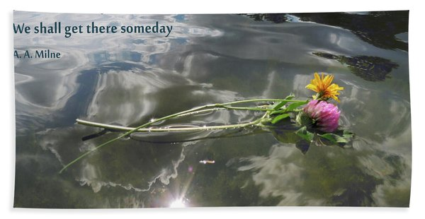 Water Reflection And Quote Beach Towel