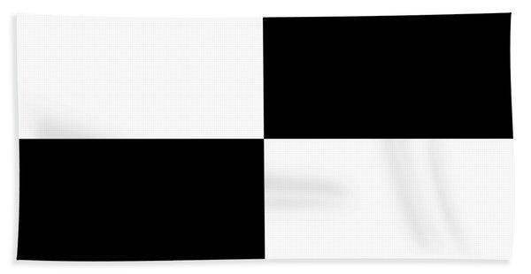 White And Black Squares - Ddh588 Beach Sheet