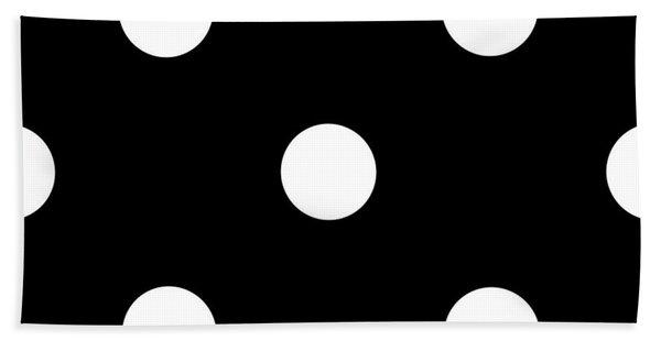 White Dots On A Black Background- Ddh612 Beach Sheet