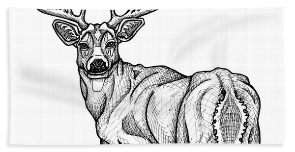 White Tailed Buck Beach Towel