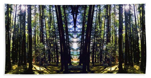 Wild Forest #1 Beach Towel
