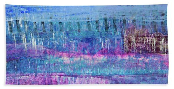 Winter Blues 3 Beach Towel