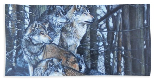 Wolf Pack Beach Towel
