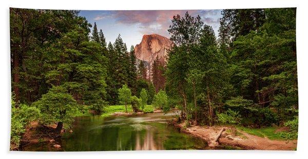 Yosemite Sunset - Single Image Beach Towel