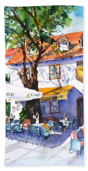 Zagreb Cafe #3 Beach Towel