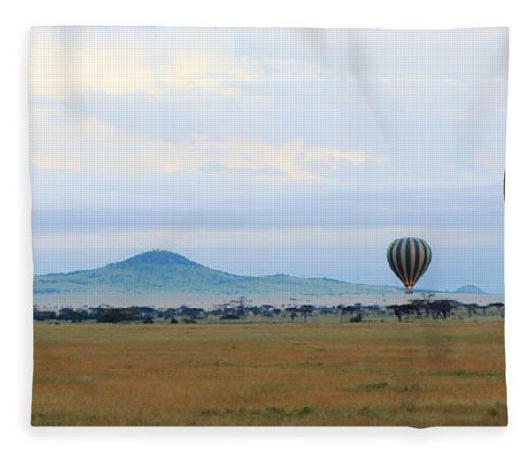 Balloons Over Serengeti Fleece Blanket