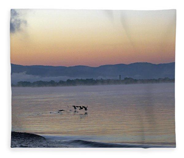 Birds At Dawn Fleece Blanket