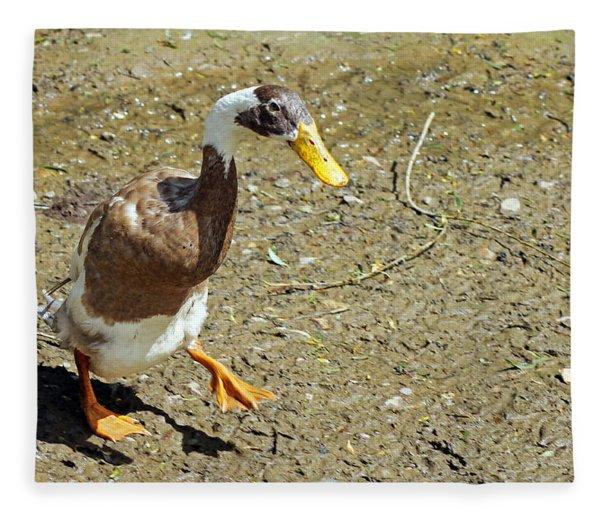 India Running Duck Fleece Blanket