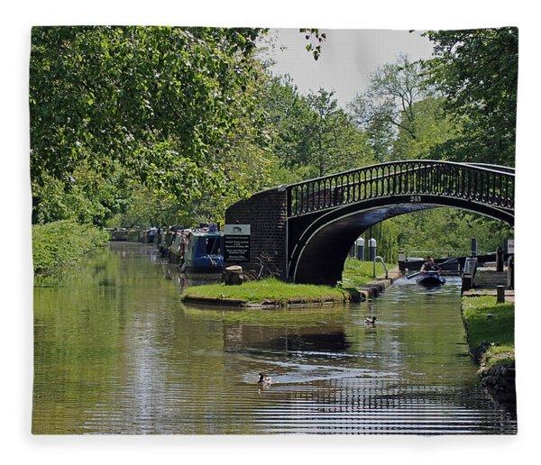 Oxford Canal Terminus Fleece Blanket