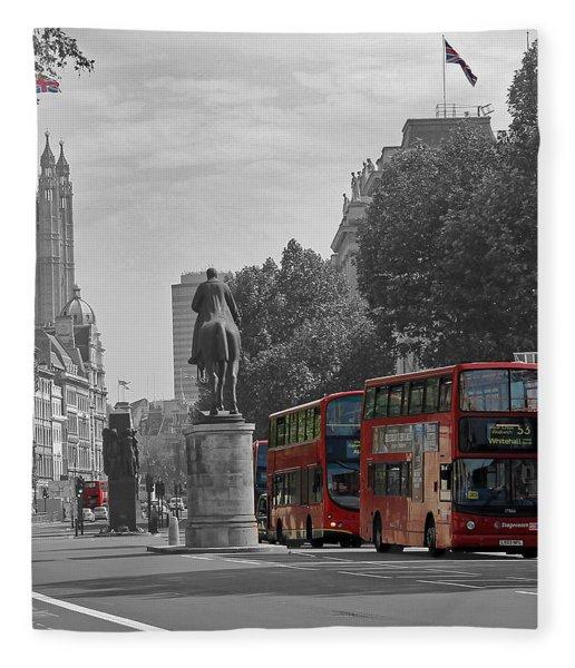Routemaster London Buses Fleece Blanket