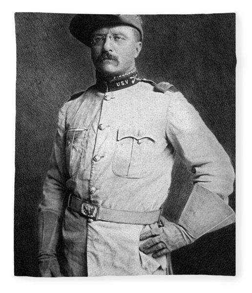 Theodore Roosevelt Fleece Blanket