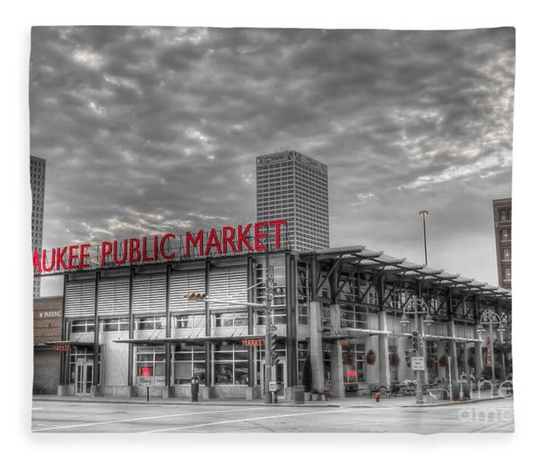 0038 Milwaukee Public Market Fleece Blanket