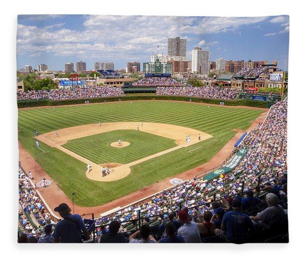 0100 Wrigley Field - Chicago Illinois Fleece Blanket