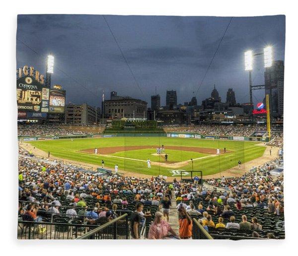 0101 Comerica Park - Detroit Michigan Fleece Blanket