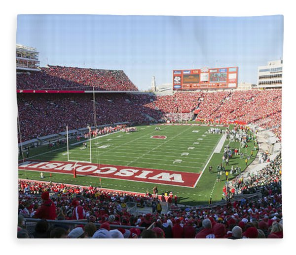 0251 Camp Randall Stadium - Madison Wisconsin Fleece Blanket