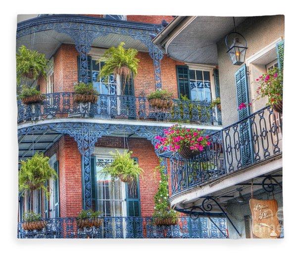 0255 Balconies - New Orleans Fleece Blanket