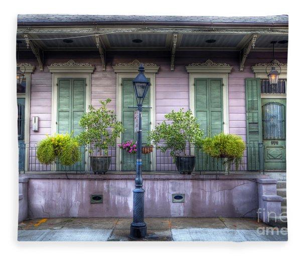 0267 French Quarter 5 - New Orleans Fleece Blanket