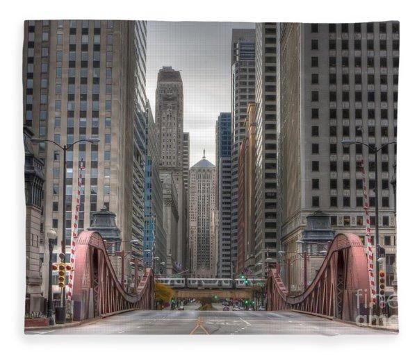 0295 Lasalle Street Chicago Fleece Blanket