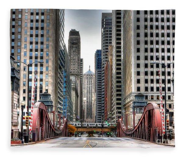 0295b Lasalle Street Bridge Fleece Blanket