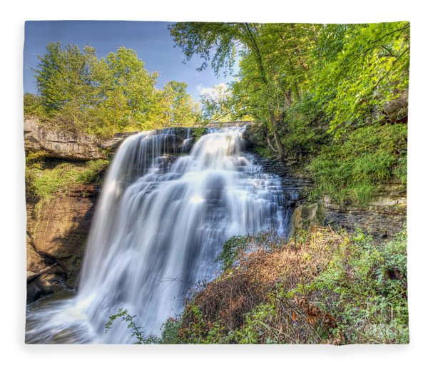 0302 Cuyahoga Valley National Park Brandywine Falls Fleece Blanket